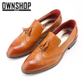 OWNSHOP Men Shoes Brogue Fashion Mens Shoes Flats Men Casual Shoes Tassels New Design Male Leather Shoe For Business Dress