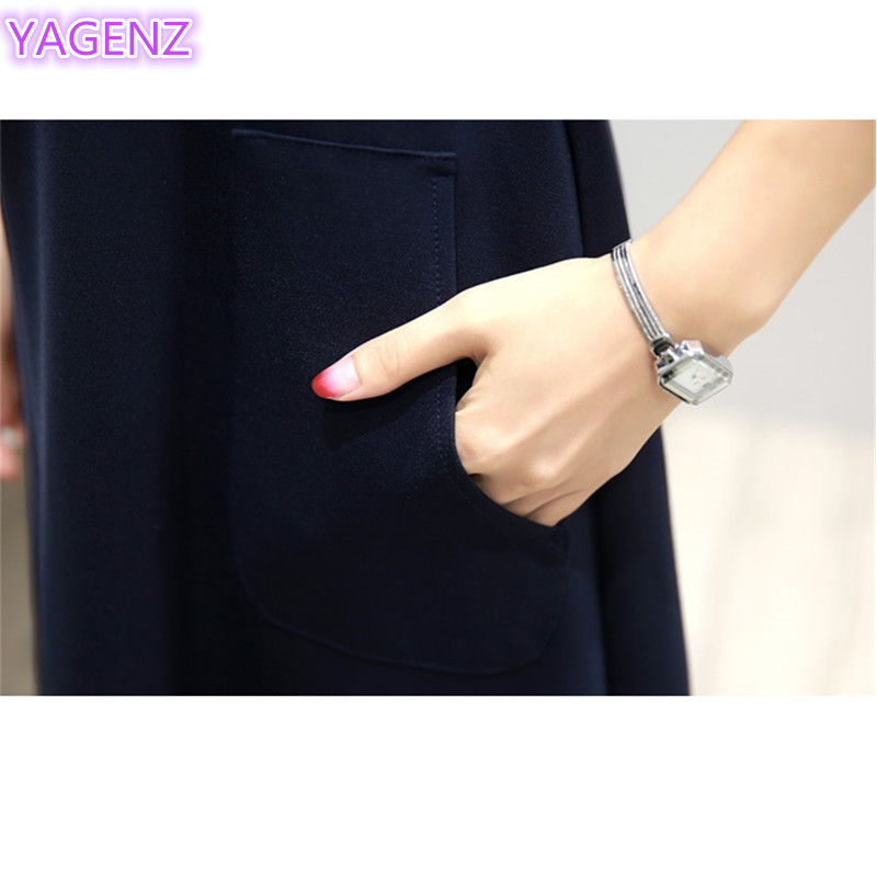 YAGENZ Fashion Gaun Elegan Kupu-kupu Bordir Dresses Plus ukuran Gaun - Pakaian Wanita - Foto 6