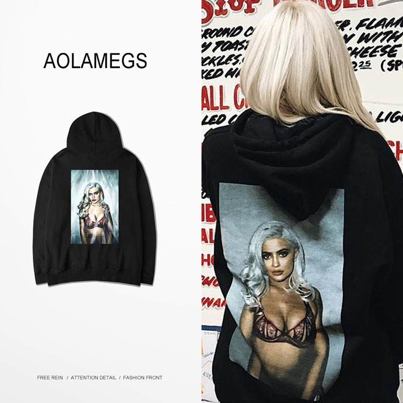 Aolamegs Men Women Hoodies Sweatshirt Sexy Girl Printing Hooded Pullovers Fashion Casual Harajuku Hoodie Couples Tops Clothing