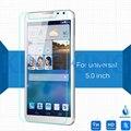 Universal de 5.0 pulgadas protector de pantalla de cristal templado 9 h 2.5d premium lunas en prestigio wize c3