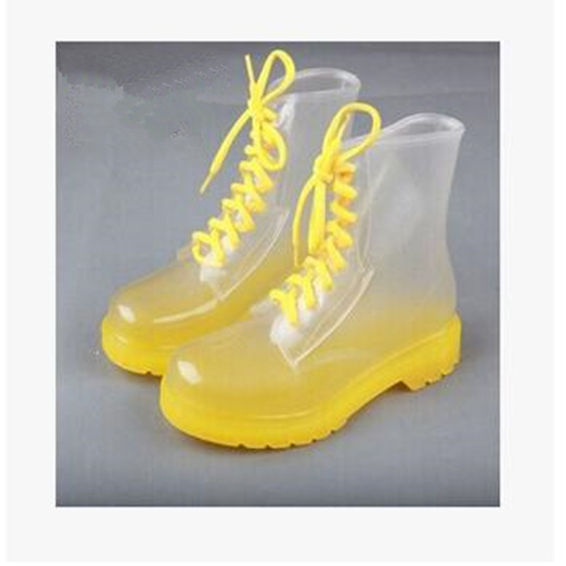 2016 Fashion Woman Rain Boots Transparent Candy Colors Waterproof Boots For Women Rubber Round Toe Water Shoes 36-40 Size юбка candy rain c15ab5688 2015