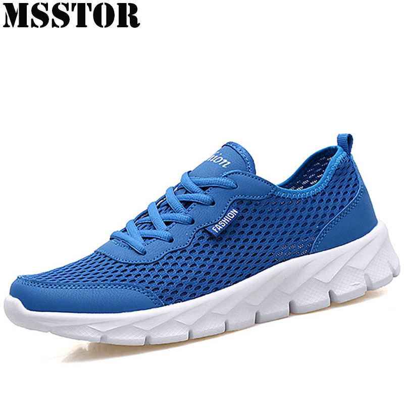 MSSTOR Women Men Running Shoes Woman Brand Summer Breathable Mesh Sport Shoes For Mens Outdoor Athletic Womens Sneakers 35-48