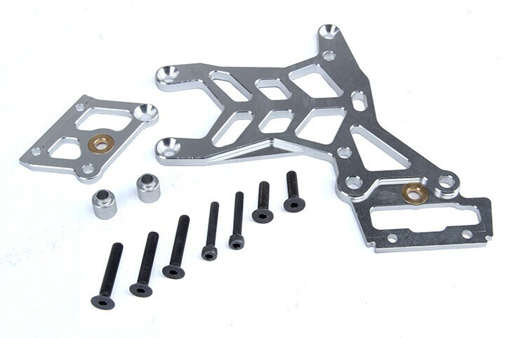 Baja CNC rear upper plate 1 set TS-H85122 thickened for baja parts, sliver , orange and green with free shipping cnc main chassis ts h65001 orange available for baja metal parts baja parts wholesale and retail