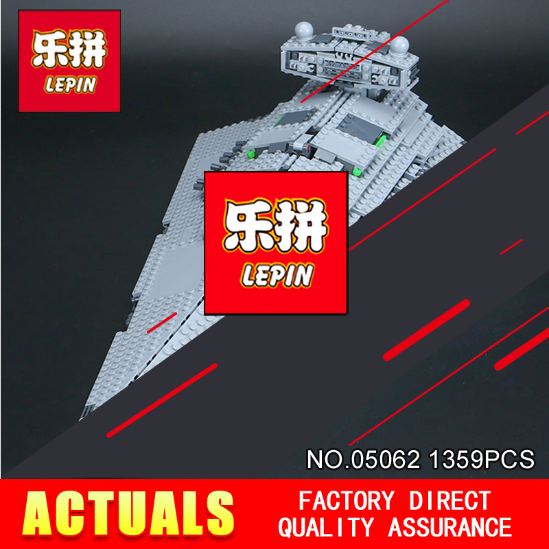 LEPIN 05062 Star Model toy Wars 1359Pcs Emperor starship Model Building Kit Blocks Bricks Compatible with 75055 Children Toys 957pcs space wars jedi defender class cruiser universe starship 05085 model building block toy bricks games compatible with lego