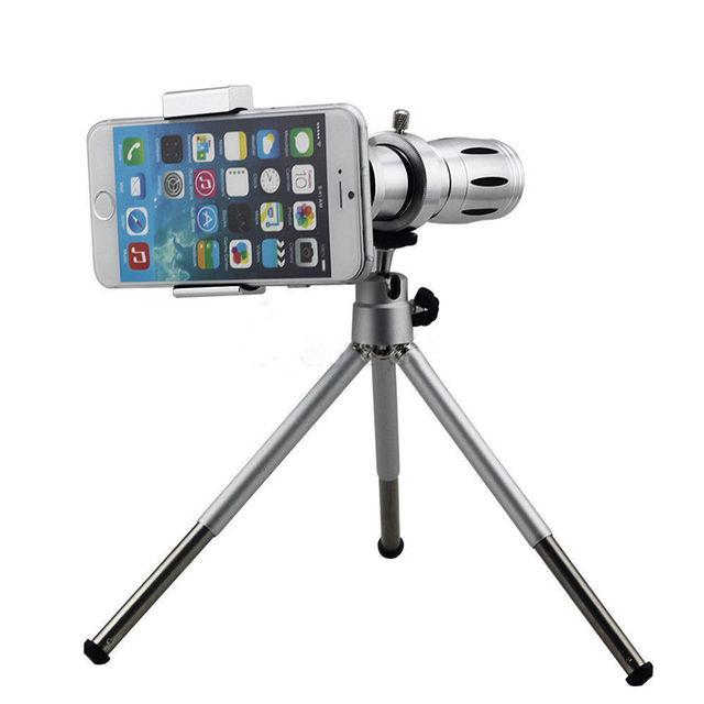 Lente Telefoto 12X Lente Da Câmera Do Telefone inteligente Novo Universal braçadeira com Tripé Para Iphone Para Samsung e outros celulares geral telefone