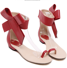 Classic Sandals European Big Bowktie Flat Sandal Sweet Bow Summer Shoes for Women Female  Flowers Flat Sandals Women's Shoes