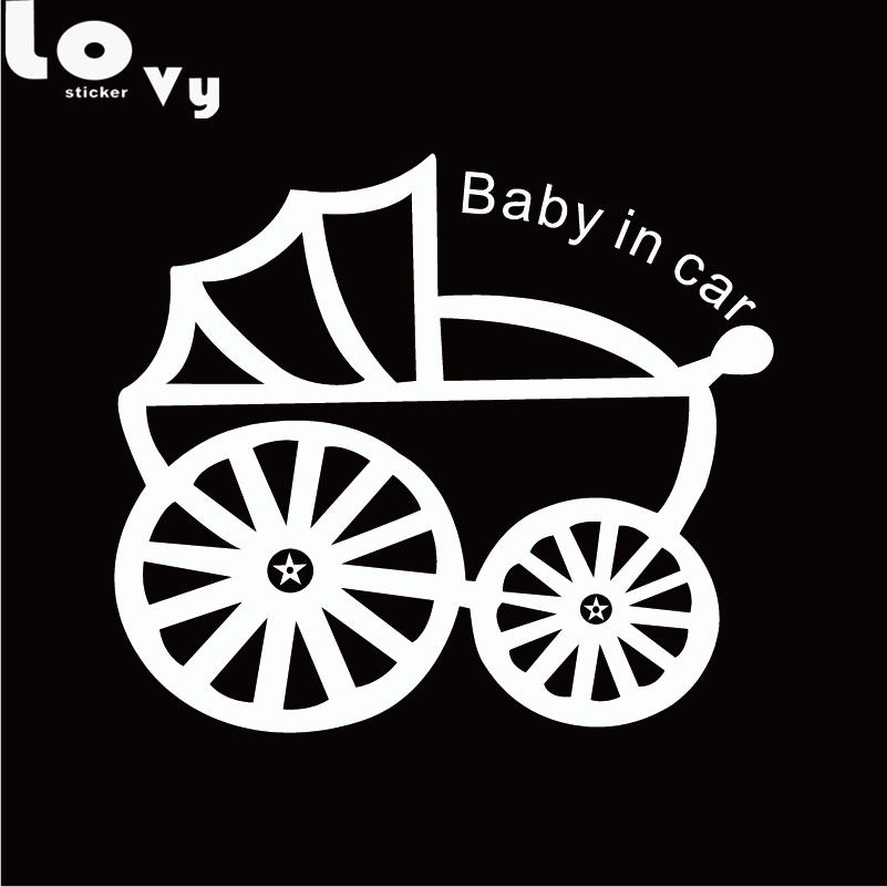 Милый ребенок в автомобиль винил автомобиля Стикеры Творческий мультфильм Предупреждение знак автомобиля Наклейка
