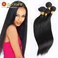 "8""-26"" Top 8A Unprocessed Peruvian Virgin Hair With Closure 4Bundles Eli Queen Natural Virgin Straight Human Hair Weave 400g"