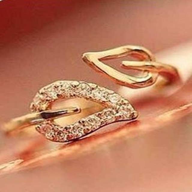 2017 new anti-drilling leaves retro Korean female couple rings jewelry influx of
