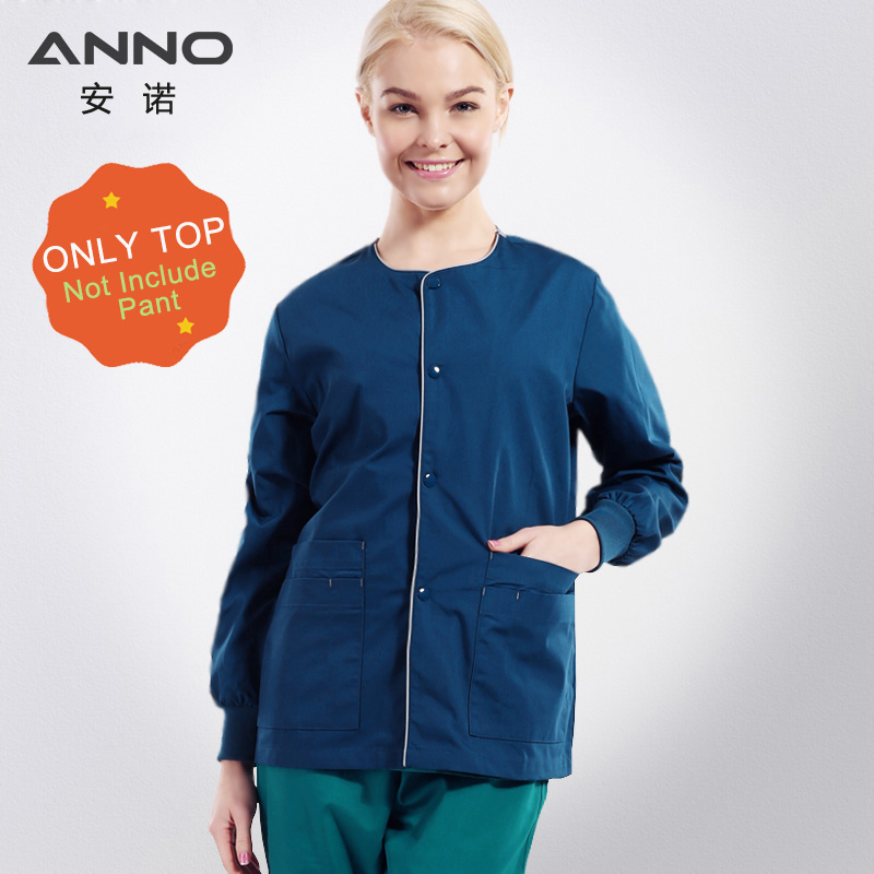 Long Sleeves Blue Unisex Medical Outfit Nursing Scrubs Out Wear Nursing Uniform Surgical Cloth Out Door Hospital Clothing Tops