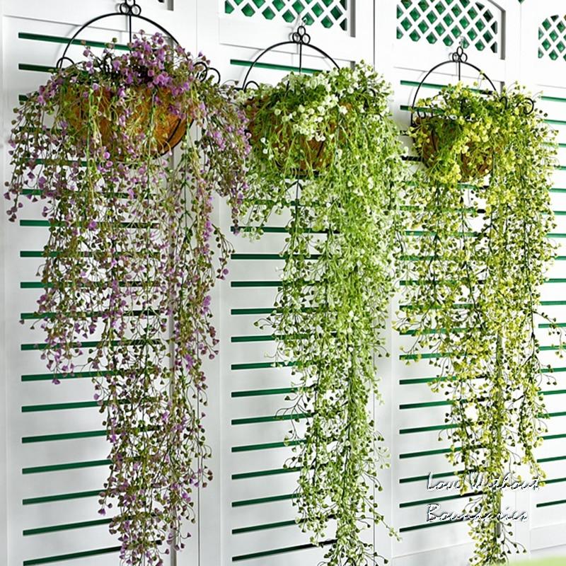꽃 바구니, 난초 매달려 꽃 바구니 플라스틱 걸려 등나무 꽃 홈 가구 다이닝 룸 벽 장식