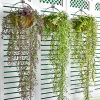 A basket of flowers, flower hanging orchids rattan flowers hanging basket plastic Home Furnishing dining room wall decoration