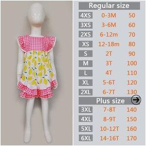 Image 2 - أحدث نمط طفل الفتيات مجموعة ملابس الليمون أكمام اللباس مع الكشكشة السراويل بوتيك الاطفال الصيف مجموعات 2GK904 1200 HY