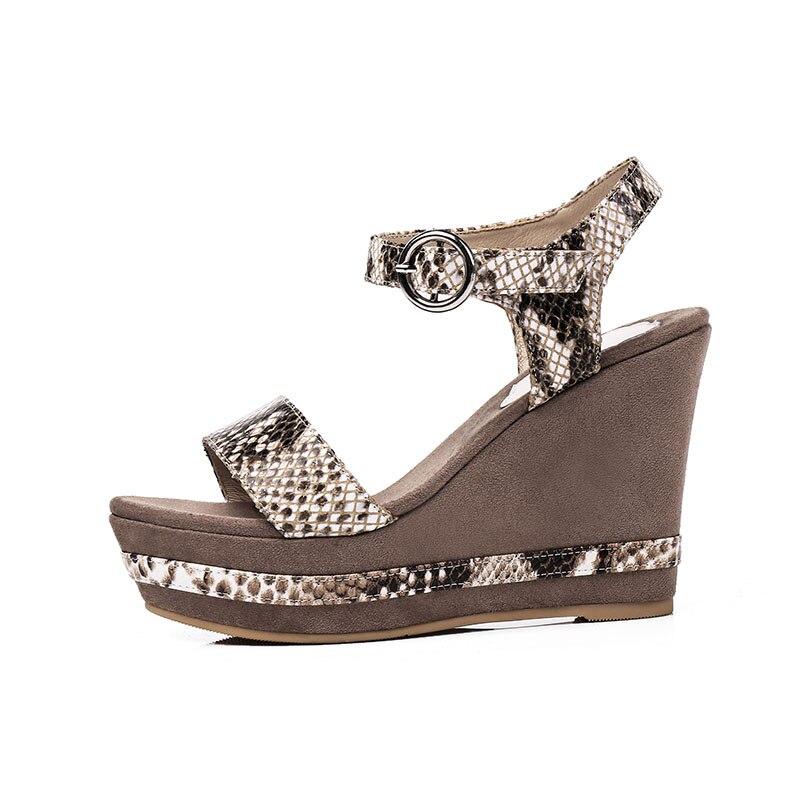 Fibbia 2018 Oro Moda Argento Oro Wetkiss Scarpe Platform Donna Angoli Ladies Open Toe Pelle Donna Vera Sandali Snake Print ZgqdC1w