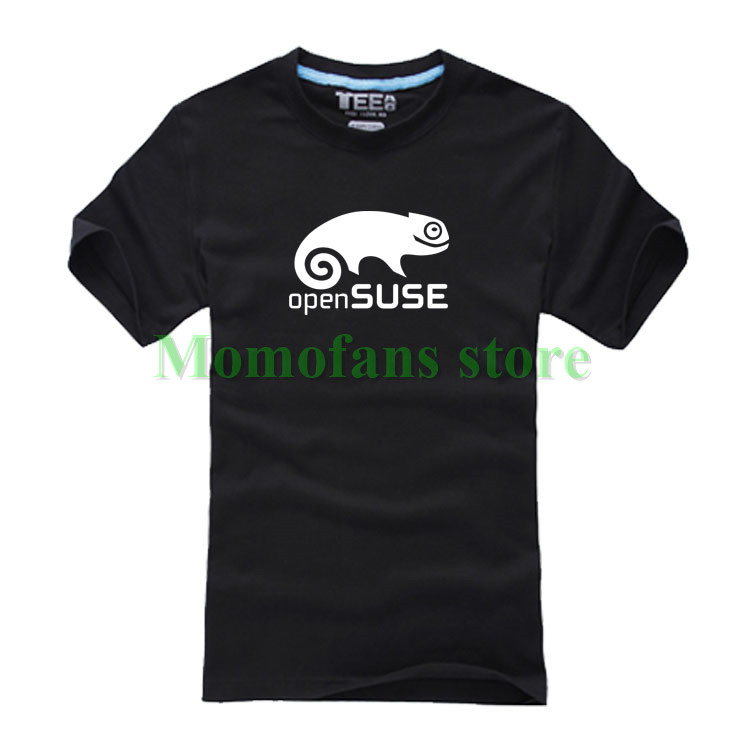 Cotton casual Open Suse Linux Source t shirts top quality fashion short sleeve tee shirts tops T-shirt