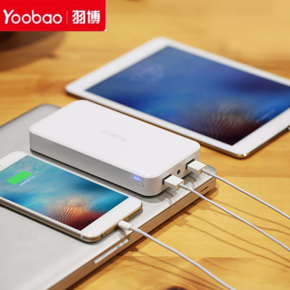 Yoobao 20000mAh-YB-S8 Plus Universal LED Portátil de Doble Salida USB Power bank