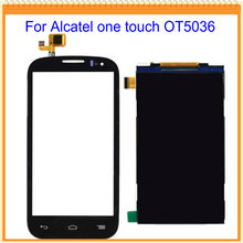 Black/White Touch Screen + LCD Screen Display for alcatel one touch ot5036 5036 5036d  digitizer Fast Shipping