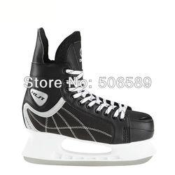 Бесплатная доставка хоккейные коньки для взрослых #38 -- #46 черный цвет