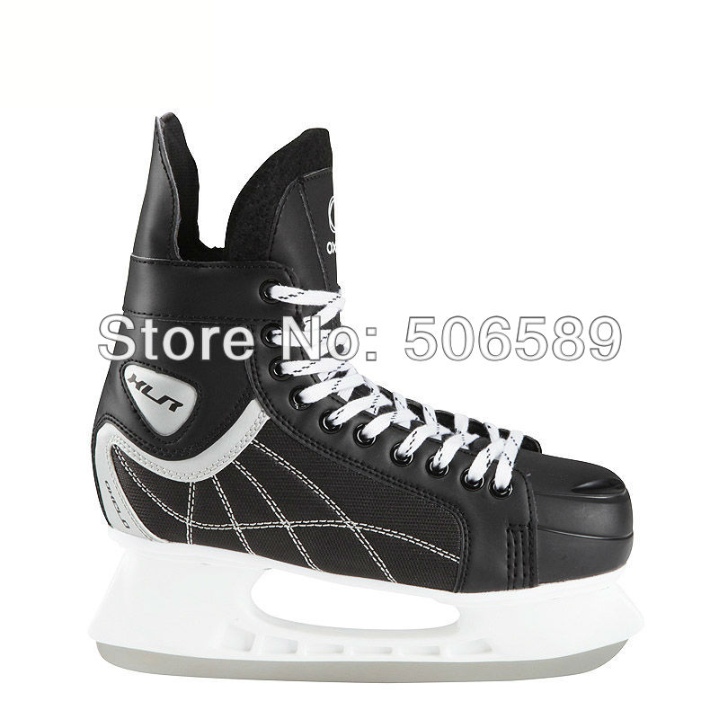 Free Shipping Adult's Hockey Skates  #38--#46 Black Color