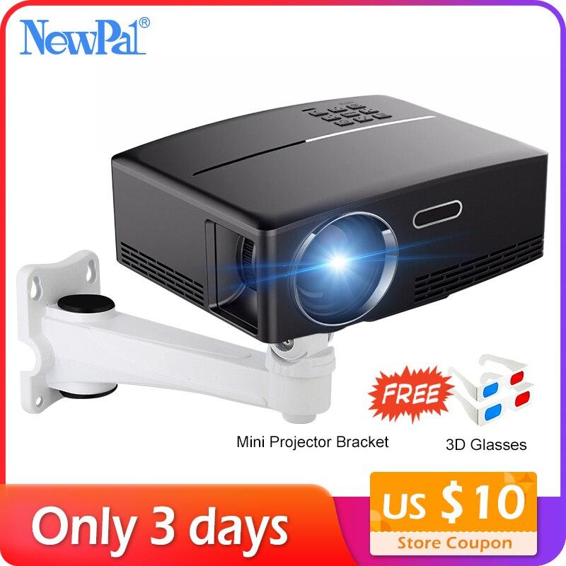 Projecteur Newpal 1800 Lumens 4 K Android 6.0 LED WiFi projecteur vidéo GP80 vers le haut projecteurs intelligents portables avec lunettes 3D gratuites