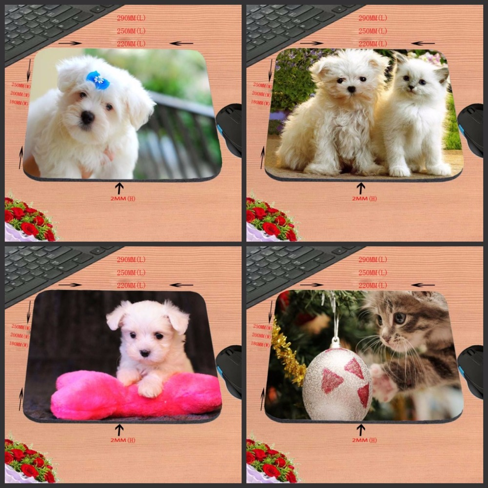 Lovely Dog New Arrival Top Sell Print 18*22cm/25*20*cm/25*29cm Rubber Mouse Pad Computer Gaming Mouse Pad Gamer Play Mats