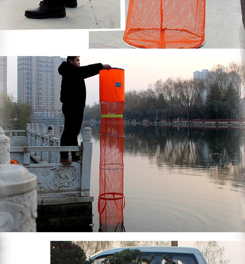 Rede de pesca gaiola utilitário dobrável cuidado