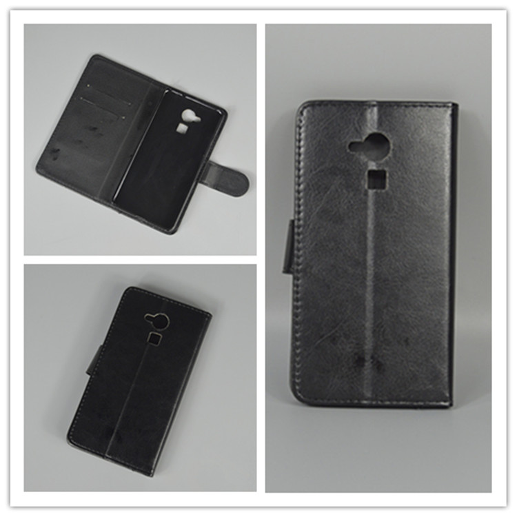Crystal grain wallet case hold two Cards with 2 Card Holder and pouch slot For Huawei Honor 7 Lite