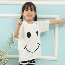 Summer Children T Shirts Printing Clothes T-Shirt For Girls Cotton Tee Shirt 2 colors New 2016