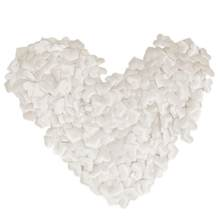 100pcs Wedding Decoration Supply Off-white Heart Shape Throwing Flowers for Wedding Valentine's Day Scatter Flower Sponge Petals(China)