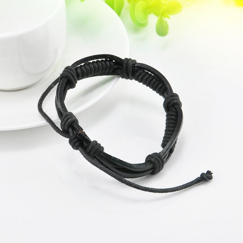 Wrap Multilayer PU Leather Bracelet Men Wristband Bracelets & Bangles For Women Men Fashion Jewelry Pulseras 2