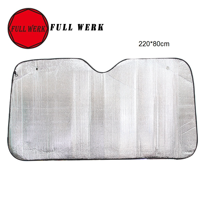 1pc Silver Foils Window Windshield Sun Shade Plate 220x80 cm Car Truck Front Window Visor Cover