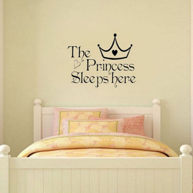 Pretty Personalized Princess Words Wall Sticker Decor Vinyl Bedroom ...