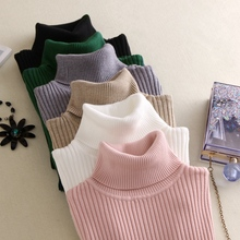 New Winter Women's Sweater Turtleneck Warm New Knit Fashion Slim Large Size M-3XL Elastic Soft Female Pullovers Sweater