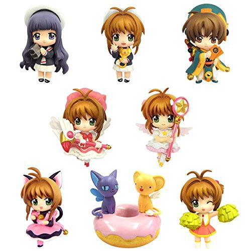 8pc/set Anime Card Captor Sakura Pvc Figures Toys Kinomoto Sakura Daidouji Tomoyo Li Syaoran Kero Anime Figures Model Collection 8pc set anime card captor sakura pvc figures toys kinomoto sakura figures model collection
