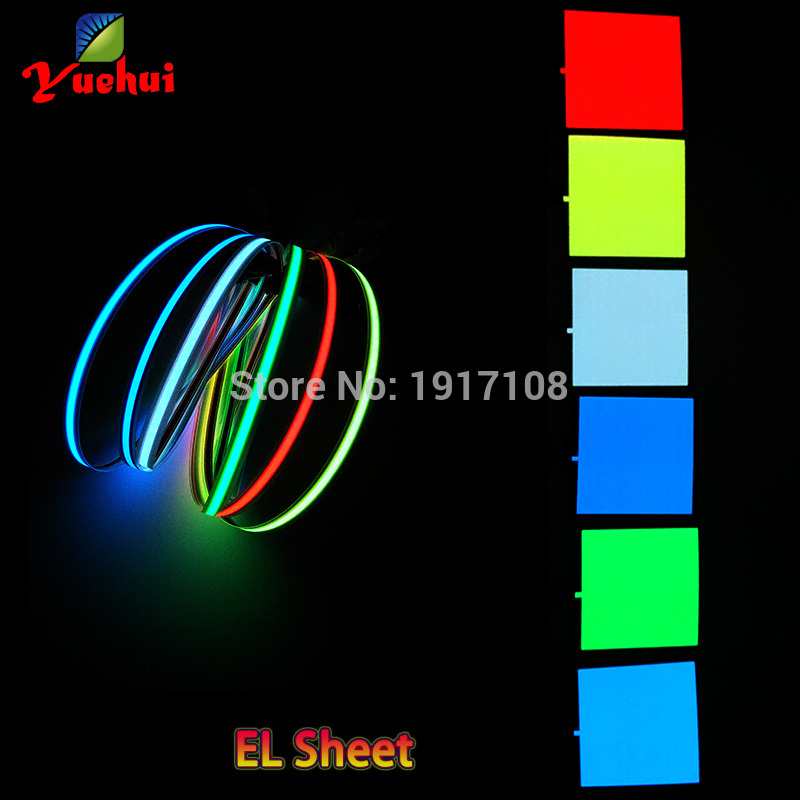 Smart 6 Colors Choice 10x10cm El Sheet El Panel For Dispaly,holiday,car,house,model festival And Party Diy Decoration Without Driver Price Remains Stable Event & Party Party Diy Decorations