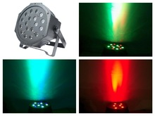 20pcs/Lot, Slim LED par Light 18x3W RGBW Par64 Flat Lights disco club night party dj rgb stage Equipment DMX