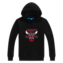 2016 Men Chicago Jimmy Butler Buckets Hoodies Sweatshirts Casual Hooded Pullovers Lace-up Thin & Thick