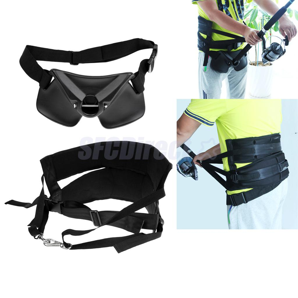 Adjustable Thickened Offshore Fishing Harness Standing Up Fighting Belt Waist Gimbal Rod Holder