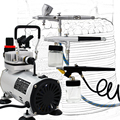 Temporary Tattoo Kit 0.2mm 0.3mm 0.8mm 3 Airbrush Compressor Kit Dual Action Spray Airbrush Set For fine Art,Nail art