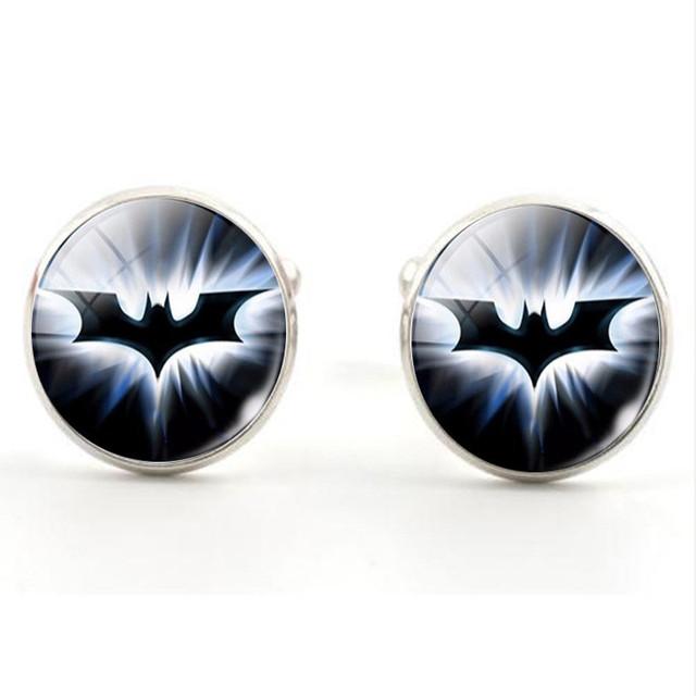 Hot! Superhero Justice League Flash Lantern Cuff Sleeve Button