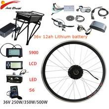 36V 250W-500W Kit bici elettrica per bici motore eletrica ruota anteriore 36V12AH batteria Ebike E Kit di conversione bici velo elettcomposto