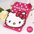 Fashion 3D Cute Hello kitty Soft silicone Rubber Cases Cover For Apple ipad Air 2 Ipad6 Air2 KT Case For Ipad 6 Coque Fundas