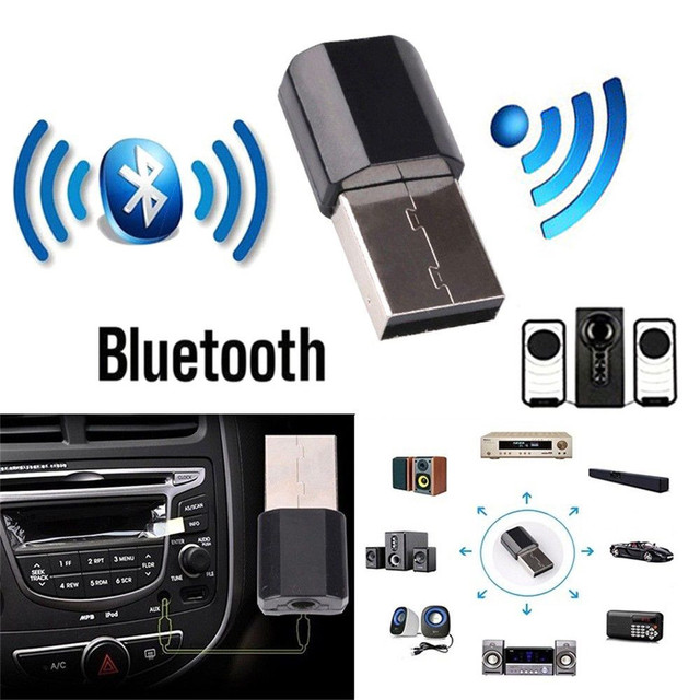 USB Bluetooth 5.0 Transmitter Receiver Stereo Audio 3.5mm Music Sound Adapter Encryption Dog Computer TV Headset Speaker