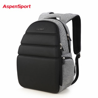 AspenSport 2018 Men S Backpacks Waterproof EVA Laptop Backpack Women Notebook Computer Bag Teen School Bag