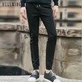 Los hombres de la nueva venta regular mediados pantalones de sarga 2016 applique hip hop marca joggers harem del ocio delgado pantalon homme 930wk
