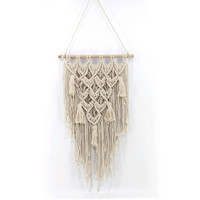 Bohemian Hand Knotted Macrame Wall Art Handmade Cotton Wall Hanging Tapestry Wedding Decoration 18093010