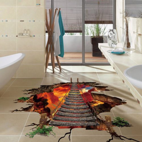 Kreative 3d Boden Aufkleber Fur Kinder Zimmer Brucke Boden