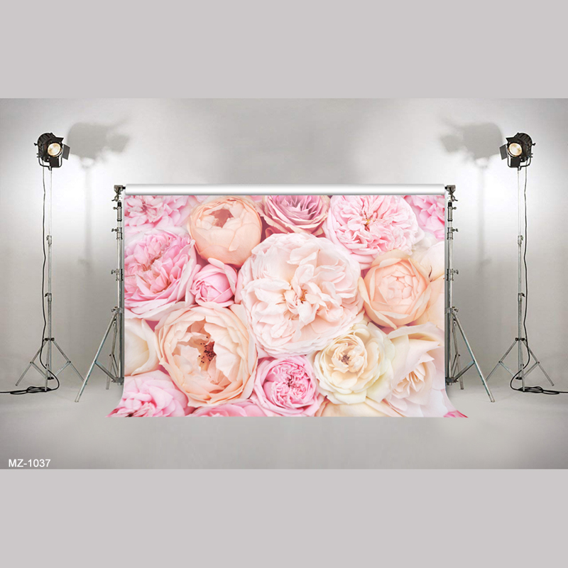 Us 35 9 Off3d Blooming Orange Flowers Wall Backdrop For Bridal Shower Wedding Background Photography Photocall Floral Wedding Backdrops In