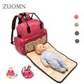 2 in 1 New Arrival Elegant Baby Diaper Backpacks Nappy Bags Mommy Bag Foldable Baby BedShoulders Backpack Bag Crib Bed YL277