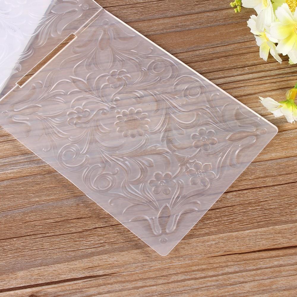 petal Embossing folders Plastic Embossing Folder For Scrapbooking DIY card ZP